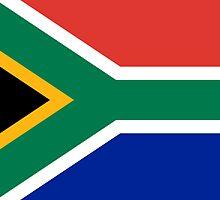 South Africa Flag - African Rugby Springboks, Sticker Duvet Bedspread T-Shirt by deanworld