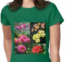 Flowers of Summer Collage Womens Fitted T-Shirt