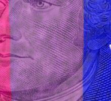 Bisexual Alexander Hamilton (flag only) Sticker