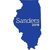 Bernie Sanders 2016 State Pride - Illinois Photographic Print
