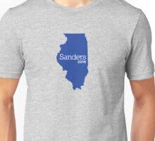 Bernie Sanders 2016 State Pride - Illinois Unisex T-Shirt