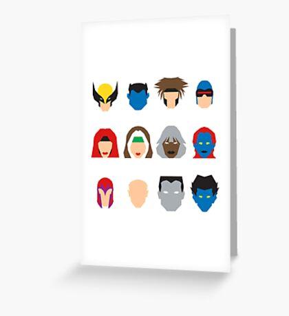 Xmen Icons Greeting Card