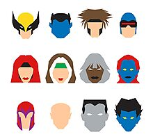 Xmen Icons Photographic Print