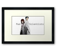 Mad Scientists Framed Print
