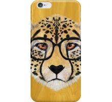 Wild Cheetah with Glasses - V01 iPhone Case/Skin