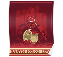 Earth Koko Love Poster