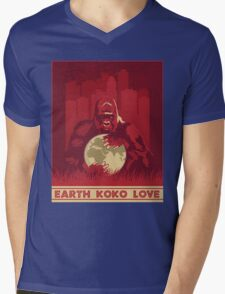 Earth Koko Love Mens V-Neck T-Shirt