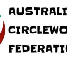 Australian Cirleworking Federation Banner Sticker