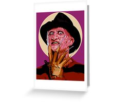 Freddy Krueger - A Nightmare on Elm Street Greeting Card