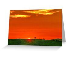 Sunset Flinders Ranges Australia Greeting Card