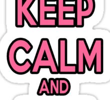 Keep Calm and Eat Cupcakes Pink Sticker