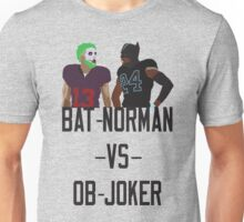 Bat-Norman vs OB-Joker Unisex T-Shirt