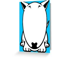 Mini Bull Terrier  Greeting Card
