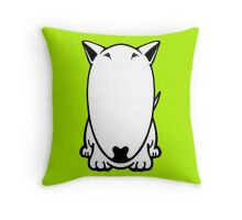 Mini Bull Terrier  Throw Pillow