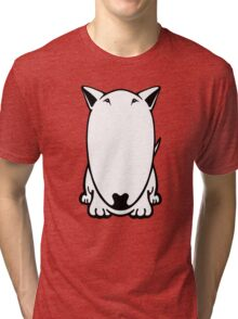 Mini Bull Terrier  Tri-blend T-Shirt