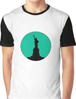Statue of Liberty Minimalist Design Graphic T-Shirt