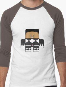 Mighty Morphin Power Rangers - Black Ranger Unmasked (Zack) Men's Baseball ¾ T-Shirt
