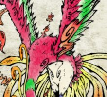 Pokemon Ho-Oh Ink Painting Sticker