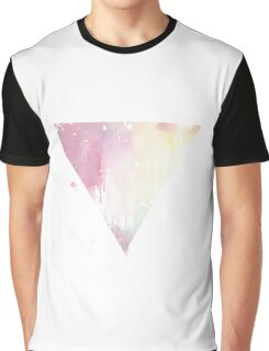 Distressed Watercolour Triangle Graphic T-Shirt