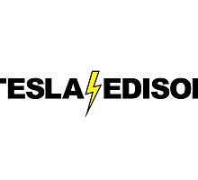 Tesla - Edison by LudlumDesign