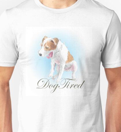 Dog Tired - puppy yawning Unisex T-Shirt