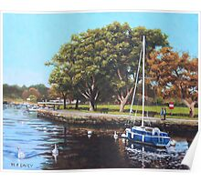 Sailing Boats and Yachts on the River Stour Christchurch Poster