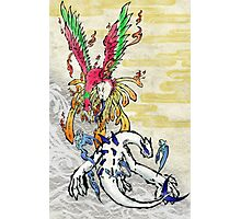 Pokemon Ho-Oh & Lugia Ink Painting Photographic Print