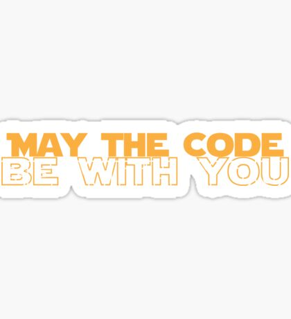 Geekit - IT shirts - May The Code Be With You Sticker