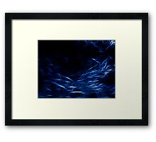Matrix Blue Framed Print