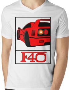 F40 Mens V-Neck T-Shirt