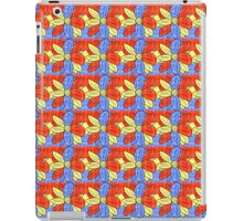 Flower Red Yellow Blue iPad Case/Skin