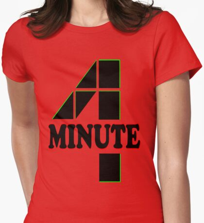 ♥♫Hot Fabulous K-Pop Girl Group-4Minute Cool K-Pop Clothes & Phone/iPad/Laptop/MackBook Cases/Skins & Bags & Home Decor & Stationary♪♥ Womens Fitted T-Shirt