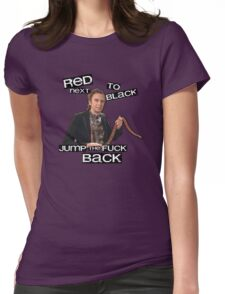 Super Hans - Red Next To Black Womens Fitted T-Shirt