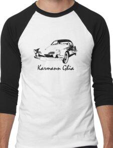 VW Karmann Ghia Stensil Print Men's Baseball ¾ T-Shirt