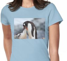 "Gentoo Penguin and Chick ~ ""Meals Home Delivered"" Womens Fitted T-Shirt"
