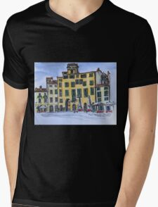 Piazza Anfiteatro Lucca 2015 pen and wash Mens V-Neck T-Shirt