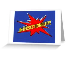 comic book intersectionality Greeting Card