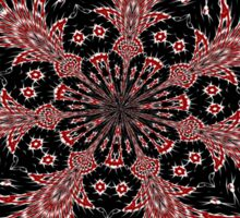 Delicate Black White and Red Lace Kaleidoscope  Sticker