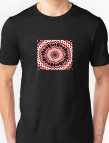 Bizarre Red Black and White Pattern Unisex T-Shirt