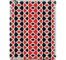 Decorative Red Black and White Pattern iPad Case/Skin