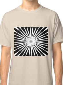 Starburst Black and White Pattern Classic T-Shirt