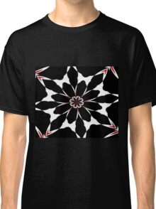 Bizarre Red Black and White Pattern 4 Classic T-Shirt