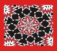 Bizarre Red Black and White Pattern 2 One Piece - Short Sleeve