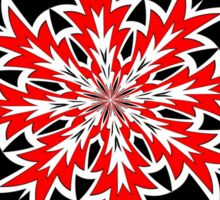 Bizarre Red Black and White Pattern 2 Sticker