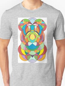 Colorful Abstract Curve Geometry - Scales  Unisex T-Shirt