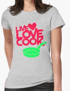 Live Love Cook Funny T-Shirt