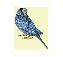 Parakeet - Blue Art Print