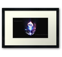 The Whole World in the Palm of Your Hand Framed Print
