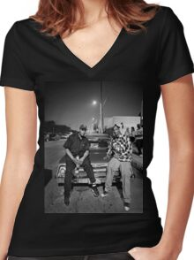 Snoop Dogg & Dr. Dre Women's Fitted V-Neck T-Shirt