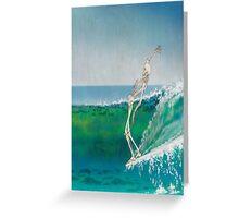 surfinh skeleton Greeting Card